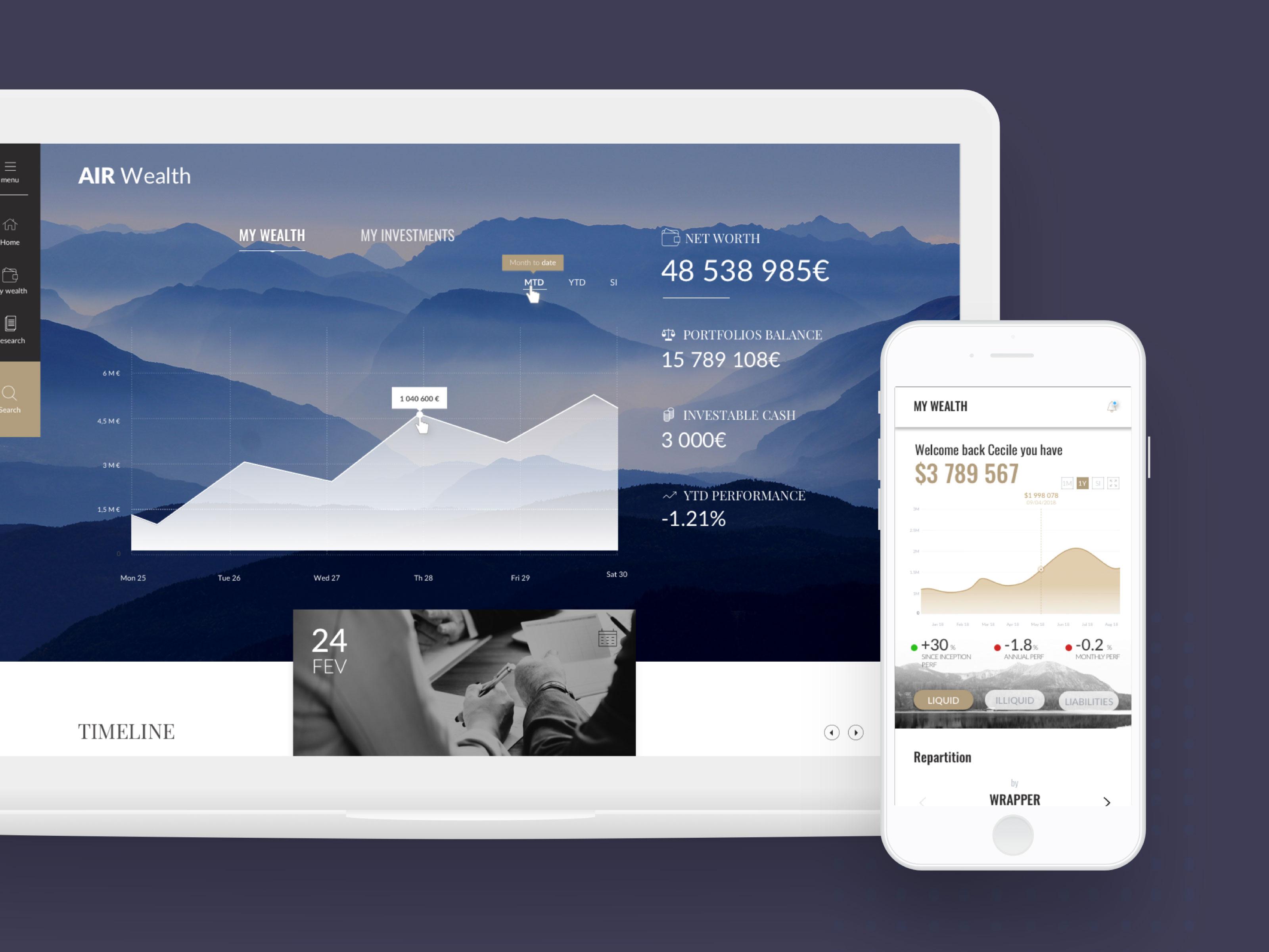 Application mobile Airwealth - Dotmind