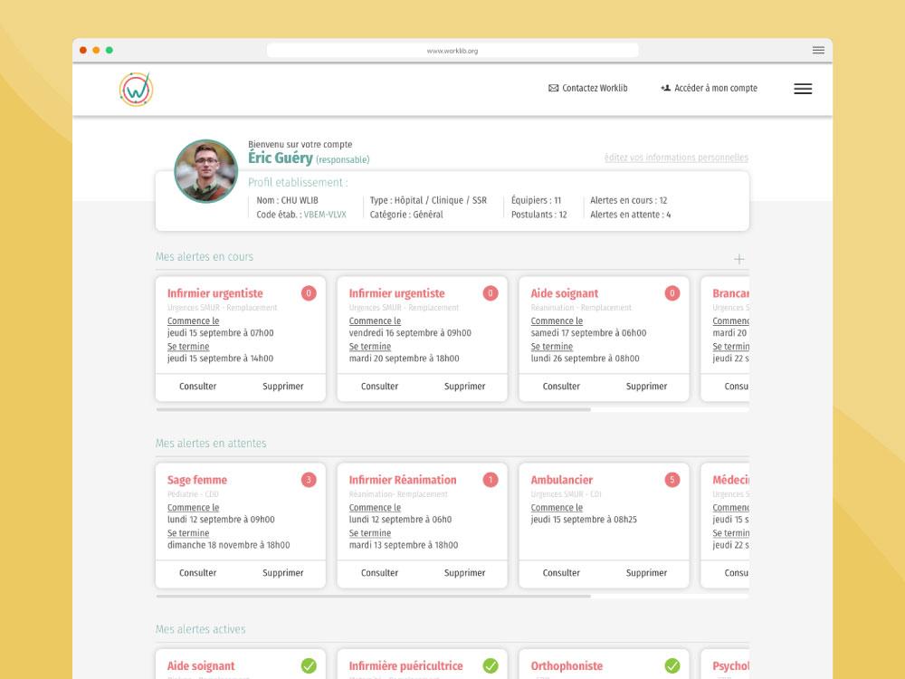 Site web worklib dashboard