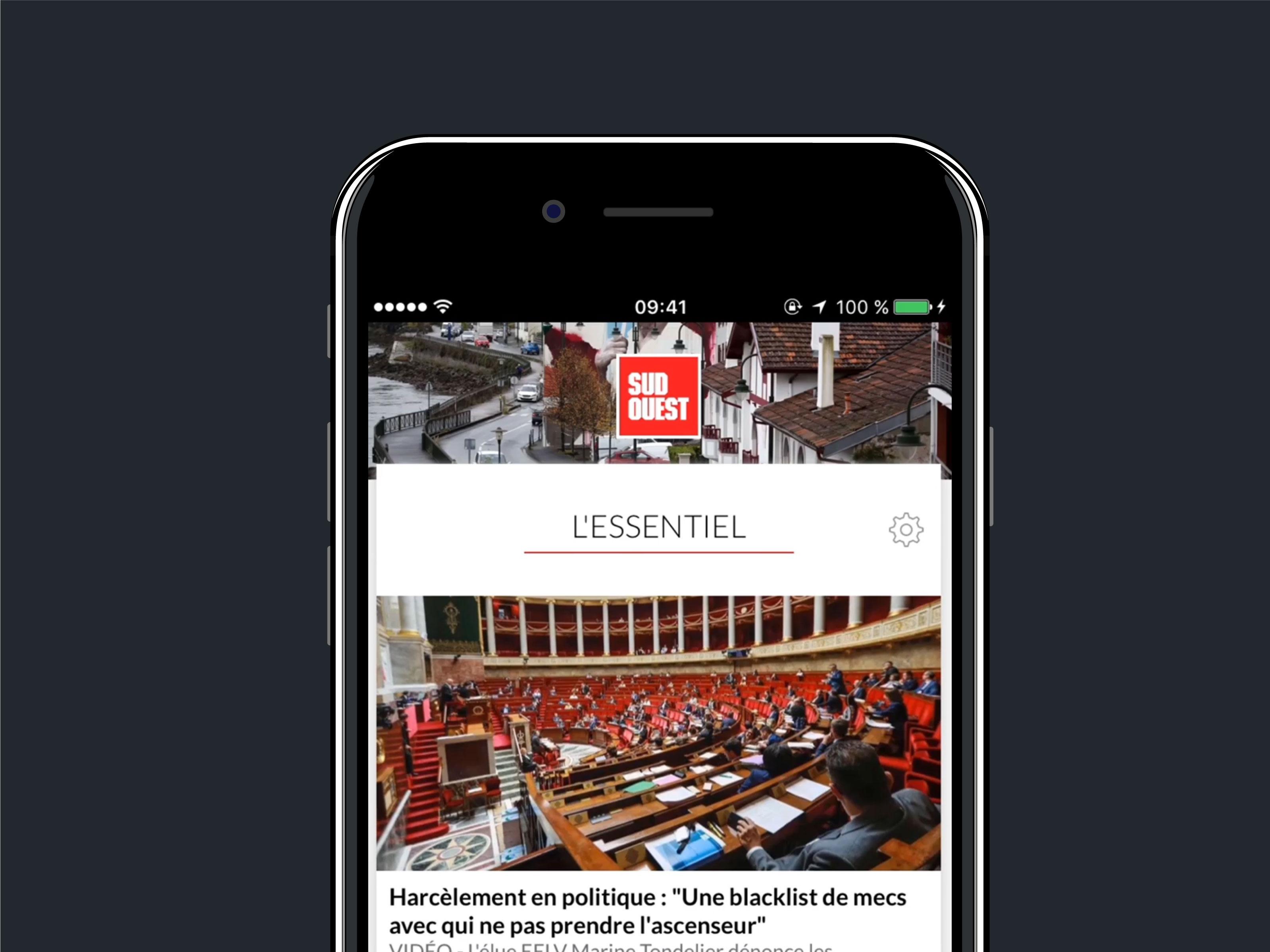 Application mobile Sud Ouest - Dotmind