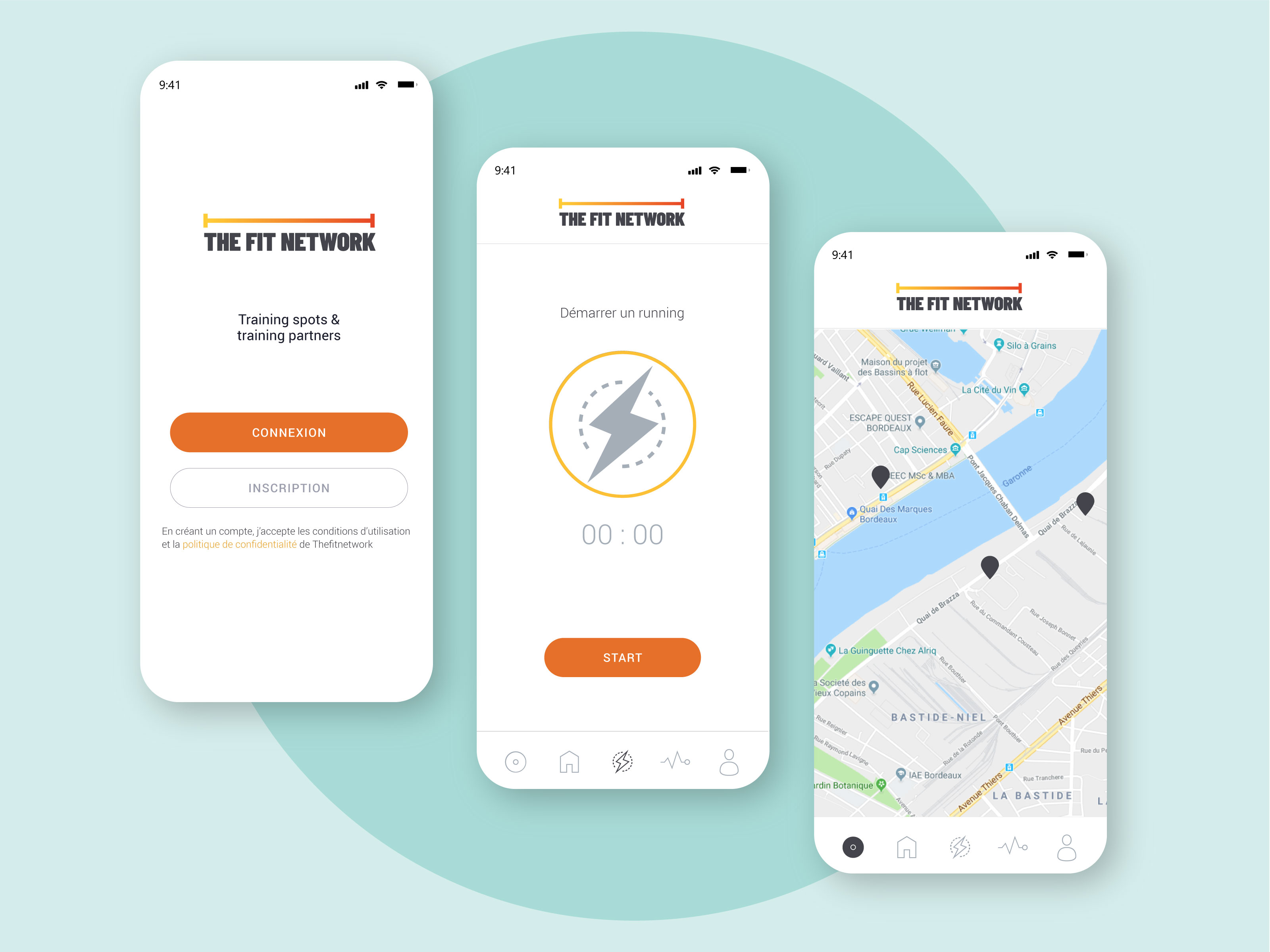 Application mobile The Fit Network - Dotmind
