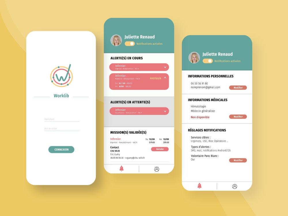 Application mobile Worklib