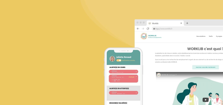 Application mobile et site web worklib