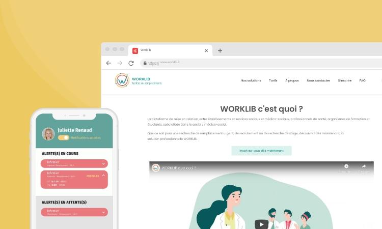 Application mobile et site web Worklib - Dotmind