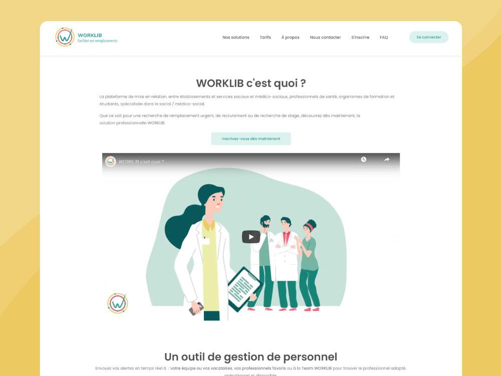 Site web worklib