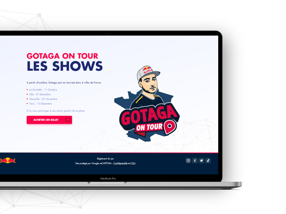 Site web Gotaga on tour